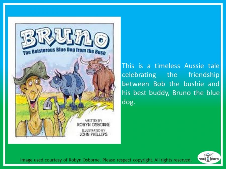 Bruno the Boisterous Blue Dog from the Bush by Robyn Osborne