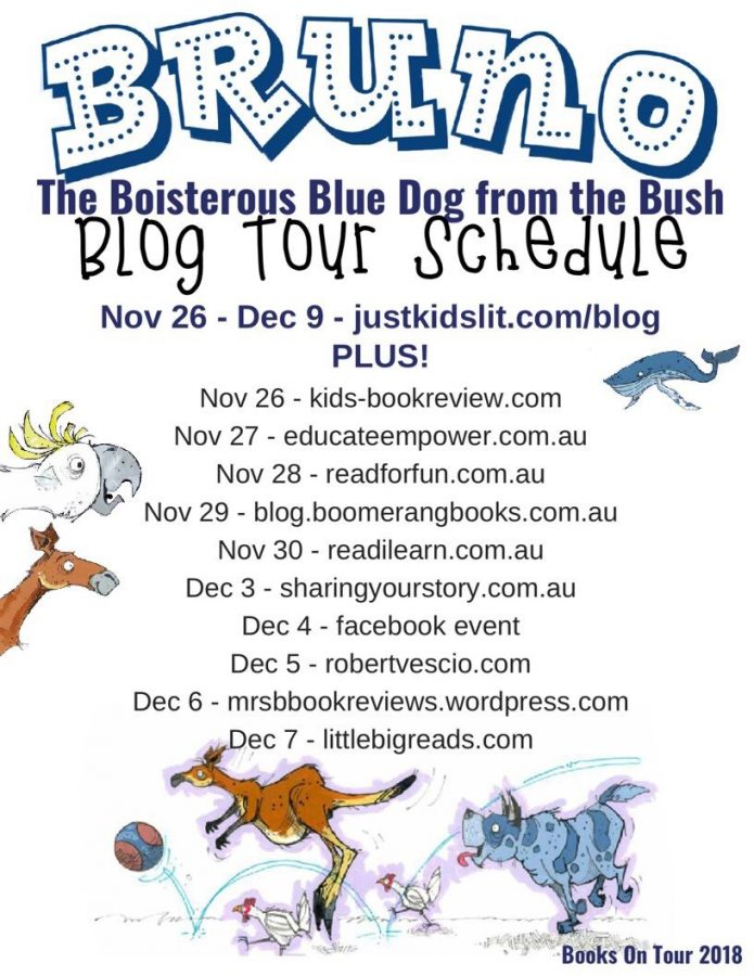 Bruno the Boisterous Blue Dog from the Bush Blog Tour