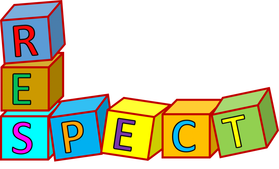 respect sign made out of blocks