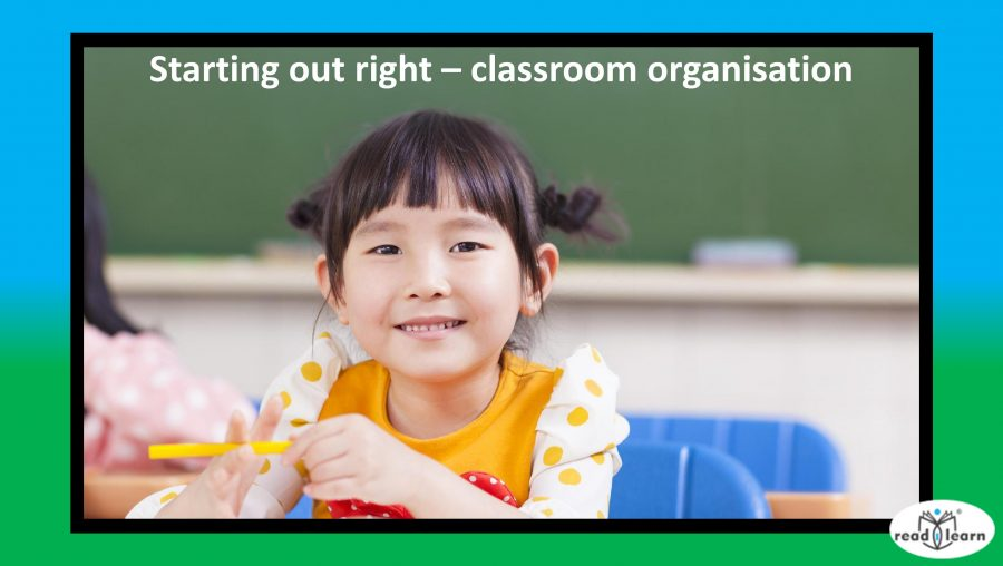 ideas for classroom organisation from the first day of school