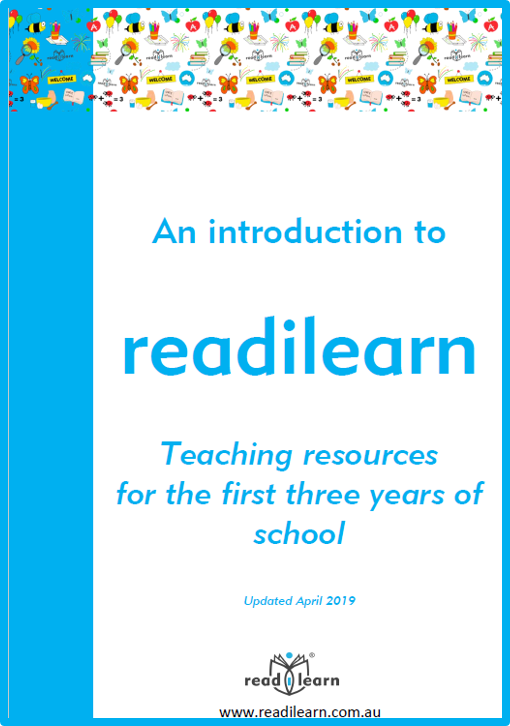 a free booklet explaining how to navigate the readilearn collection of K-2 teaching resources