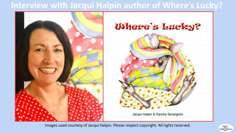 Interview with Jacqui Halpin author of Where's Lucky blue