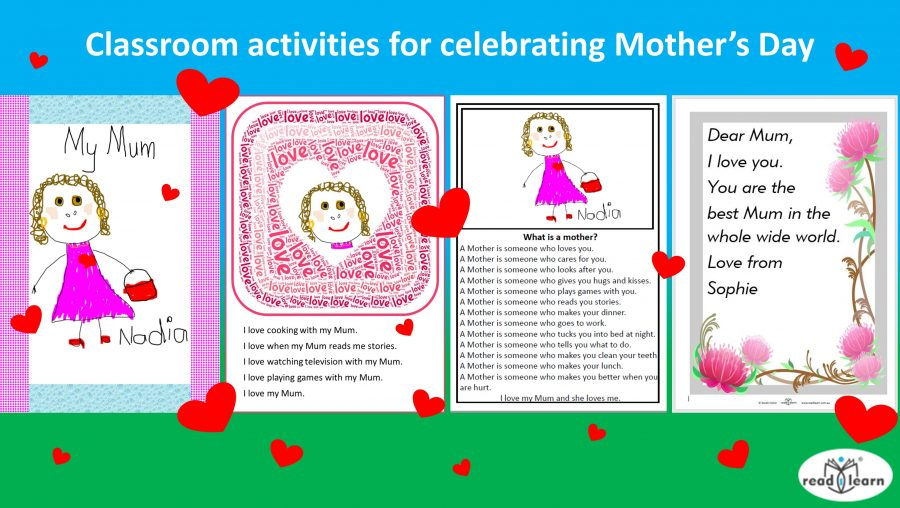 Classroom activities for celebrating Mother's Day