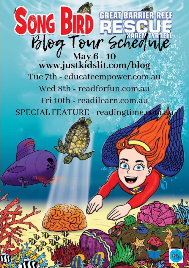 Song Bird Great Barrier Reef Rescue blog tour schedule