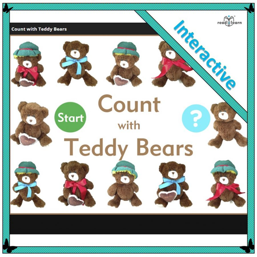 teaching number concepts - count with Teddy Bears
