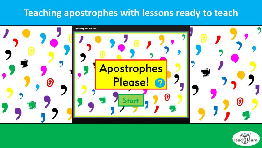 lessons for teaching apostrophes