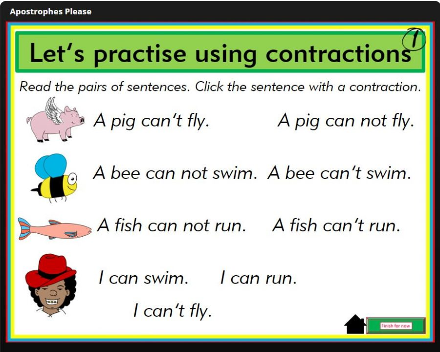 Apostrophes Please! teaching contractions