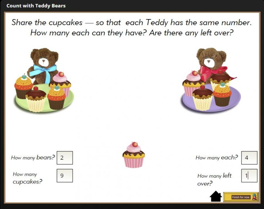 share the cupcakes - equal shares