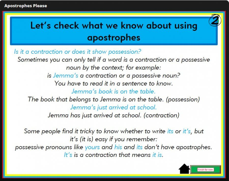 teaching tricky apostrophes